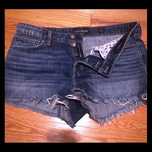 Set of lucky brand & forever 21 distressed shorts